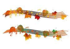 Muzikale banner Stock Afbeelding
