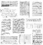 Muzikale clipart of borstelreeks Stock Foto's