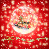 Muzikale de groetkaart van de Kerstmistijd Royalty-vrije Stock Fotografie