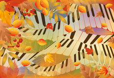 Muzikale de herfstbanner stock illustratie
