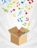 Muzikale doos Stock Foto's