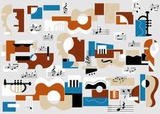 Muzikale en theatersamenvatting Stock Afbeelding