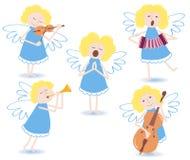 Muzikale engelen. Stock Afbeeldingen