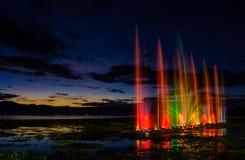 Muzikale fonteinen stock fotografie