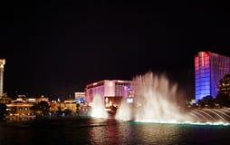 Muzikale fonteinen van Bellagio Stock Foto
