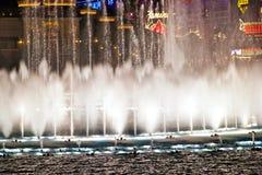 Muzikale fonteinen van Bellagio Hotel Stock Foto's