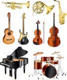 muzikale foto-pealistic instrumenten Stock Fotografie