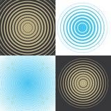 Muzikale golf Concentrische ringen van dalende diameter stock illustratie