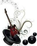 Muzikale grungeachtergrond stock illustratie