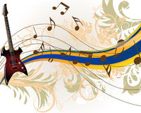 Muzikale grungeachtergrond Stock Foto's