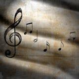 Muzikale grungeachtergrond Stock Foto