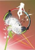 Muzikale hoofdtelefoons stock illustratie
