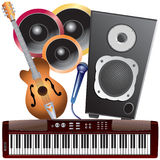 Muzikale instrumenten. Stock Afbeelding