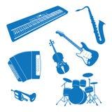 Muzikale instrumenten Stock Foto's