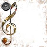 Muzikale ? instrumenten als achtergrond Royalty-vrije Stock Foto's