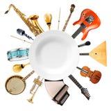 Muzikale instrumenten, orkest royalty-vrije stock afbeelding