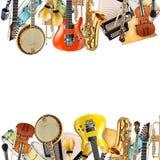 Muzikale instrumenten, orkest Stock Foto's