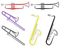 Muzikale Instrumenten - Samenvatting. (Vector) Royalty-vrije Stock Afbeelding