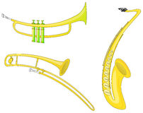Muzikale Instrumenten (Vector) Stock Afbeeldingen