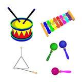 Muzikale instrumenten voor kinderen Stock Afbeeldingen