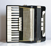 Muzikale instrumentenharmonika Stock Foto's
