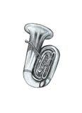 Muzikale instrumentenpijp Royalty-vrije Stock Afbeelding