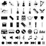 Muzikale instrumentenreeks Royalty-vrije Stock Afbeeldingen