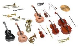 Muzikale instrumentenreeks Stock Afbeelding