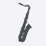 Muzikale Instrumentensaxofoon die Jazz Music Direction speelt Ve stock illustratie
