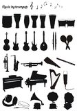 Muzikale instrumentenvormen Royalty-vrije Stock Foto