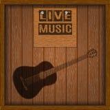 Muzikale levende houten raad als achtergrond stock illustratie