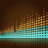 Muzikale lichtenachtergrond Royalty-vrije Stock Foto's