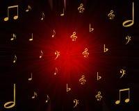 Muzikale ontploffing Stock Foto