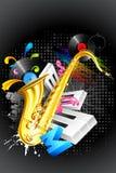 Muzikale Ontploffing Stock Fotografie