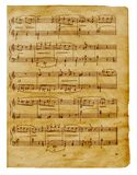 Muzikale oude nota'spagina Royalty-vrije Stock Afbeelding