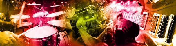 Muzikale prestaties op stadium De recreatie en de muziek tonen royalty-vrije stock afbeeldingen