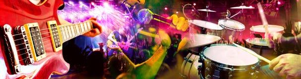 Muzikale prestaties op stadium De recreatie en de muziek tonen royalty-vrije stock foto