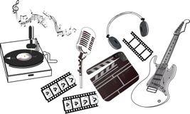 Muzikale reeks stock illustratie