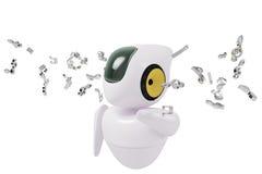 Muzikale robot sc.i-FI Stock Foto's
