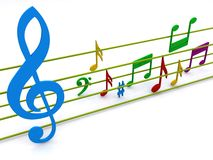 Muzikale samenstelling   Stock Fotografie