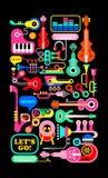 Muzikale samenstelling Stock Foto