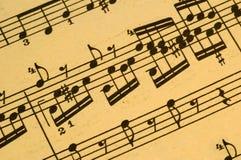 Muzikale Score Stock Fotografie