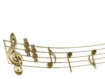 Muzikale score Stock Afbeelding