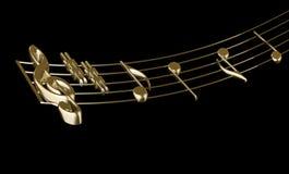 Muzikale score Stock Foto's