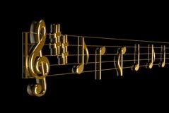 Muzikale score Royalty-vrije Stock Foto