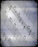 Muzikale score abstracte achtergrond Stock Foto's