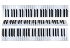 Muzikale sleutels op de wit geïsoleerde achtergrond stock afbeelding