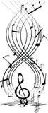 Muzikale staaf stock illustratie