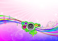 Muzikale stromende achtergrond. Royalty-vrije Stock Afbeeldingen
