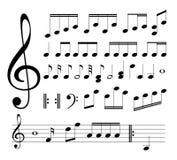 Muzikale tekens. Nota's Stock Foto